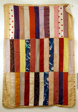 World War II quilt exhibit at the Quilters Hall of Fame in the Marie Webster House located in Marion.  This is the AMERICAN RED CROSS QUILT.