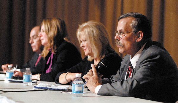 Four candidates took part in the State Representative candidate forum Thursday evening.  They were Jack Lutz, R, District 35;  Melanie Wright, D, District 35;  Terri Austin, D, District 36; and Jim Lycan, R, District 36.