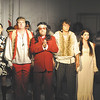 """Long-haired street preacher Daddy Brubeck, played by Rick Vale, sings of """"The Rhythm of Life"""" to his hippie congregation in """"Sweet Charity."""" The musical runs this weekend and next at Mainstage Theatre, 124 W. Ninth St."""