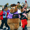 "Hoosier Park held a celebration party for their employees Monday for winning 22 1st place ""Best Of""  awards from Midwest Gaming & Travel magazine.  Hoosier Park's mascot Hoosier Buddy leads off the 5:30 p.m. pep rally with the help of Hoosier Park executives and the Anderson High School marching band."
