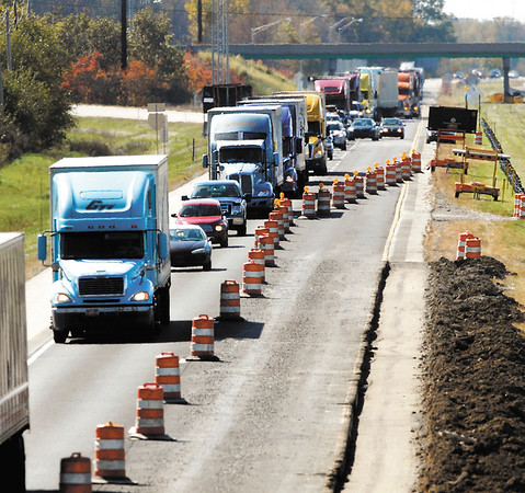 I-69 road work started Friday between exits 219 and 222 in Madison County.  The lane restrictions for northbound lanes start just past the entrance ramp from Indiana 38 at exit 219.