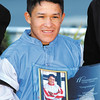 Fernando De La Cruz was honored for winning the Leading Thoroughbred Jockey title for the 2012 meet.