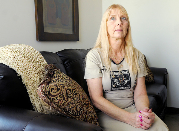 Sandi Martin-Frizzell escaped an abusive husband after 28 years of marriage.