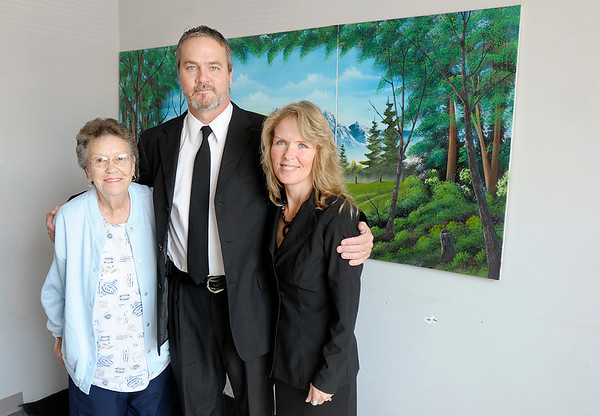 From left, Ginny Barnes, Vaughn Walker and Connie Walker at SOS Counseling in Anderson.