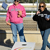 "Hoosier Park held a celebration party for their employees Monday for winning 22 1st place ""Best Of""  awards from Midwest Gaming & Travel magazine.  Here Kara Fairer and Noelle Lloyd have fun competing playing corn hole."
