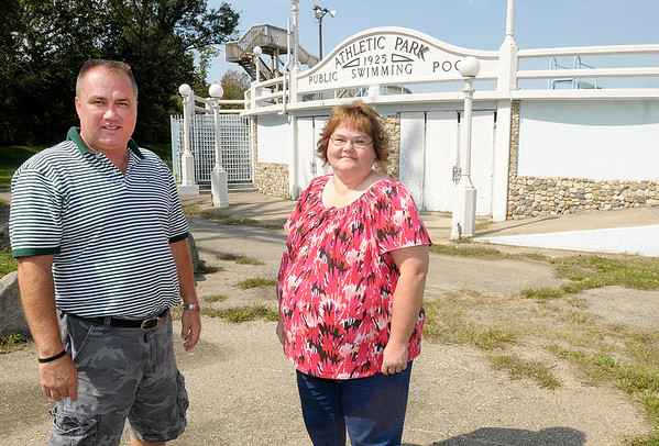 John Anderson and Carol Blakeley are working to raise funds to restore and reopen Anderson's Athletic Pool by next summer.