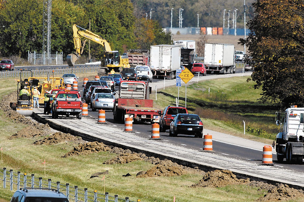 I-69 road work started Friday between exits 219 and 222 in Madison County with lane restrictions for northbound traffic.
