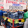 Some of the grand opening bargains for Ollie's Bargain Outlet was very popular like the sale of these jeans.