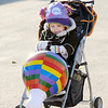 Don Knight/The Herald Bulletin<br /> Maelynn Stambro, 1, holds on to her toy balloon during Balloons Over Killbuck on Friday. The event continues through Sunday.