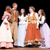 "Don Knight/The Herald Bulletin<br /> Laurie Laurence (Morton Garringer), second from left, is declared by Jo (Chelsea Leis), second from right, as the brother to the sisters in The Boze Lyric Theatre's production of ""Little Women."""