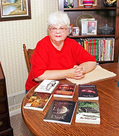 Mark Maynard/For The Herald Bulletin<br /> Author Toni Cantrell found that promoting her work helped her cope with the challenges of breast cancer.