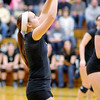 Don Knight/The Herald Bulletin<br /> Madison-Grant's Kayla Stanley passes the ball as the Argylls faced the Alexandria Tigers in the sectional final on Saturday.