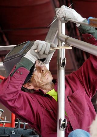 Metal Art Inc. working on remodeling job at Hoosier Park.