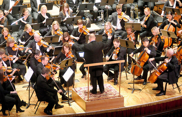 """Don Knight/The Herald Bulletin<br /> The Anderson Symphony Orchestra opened their 46th season with a performance of the symphonies  known as """"Jupiter"""" and """"Titan"""" on Saturday."""