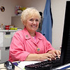 Breast cancer survivor Julie Morson volunteers at St. Vincent Cancer Center.