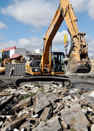 Demolition of the McDonald's at 2830 Broadway began Monday to make way for a new updated version of the restaurant.  The building was built in the 1970s and the target date to open the new facility is early January 2014.