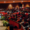 Gloria Gaither speaks at AU chapel.