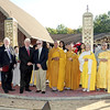 Mark Maynard | For The Herald Bulletin<br /> Gerry Longenbaugh of the Madison County Chamber of Commerce, Anderson Mayor Thomas Broderick, Jr. and State Senator Tim Lanane joined Buddhist church officials for the opening of the new Pho Minh Temple on Sunday.