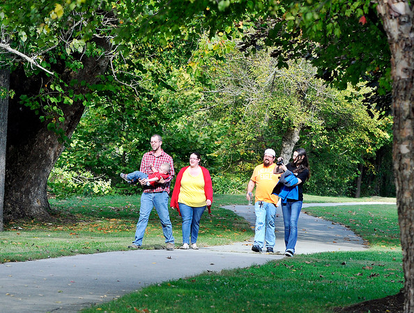 John P. Cleary |  The Herald Bulletin<br /> These folks were out enjoying a nice walk along Fall Creek in Pendleton Saturday on a beautiful fall afternoon.