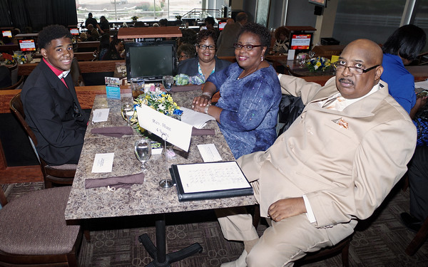 Mandel Hunt, Myrna Ivy, Terra Hunt and Rev. M. Lewis Hunt were among the large number of attendees at the Anderson /Madison County Black Chamber of Commerce 2016 Annual Banquet at Hoosier Park.