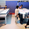 John P. Cleary |  The Herald Bulletin<br /> First day of activities for the new Girls & Boys Club at 2828 Madison Ave. Here the kids enjoy playing air hockey.