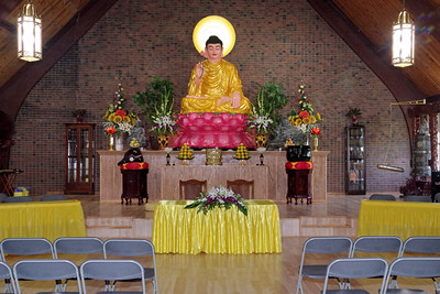 Mark Maynard   For The Herald Bulletin A statue of Buddha dominates the sanctuary of the Pho Minh Temple, which was dedicated on Sunday in Anderson.