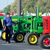 John P. Cleary |  The Herald Bulletin<br /> An antique tractor show was part of the Harvest Fest - Family Fun Fall Festival held Saturday evening at Hoosier Park.