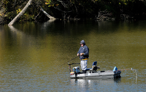 Don Knight | The Herald Bulletin<br /> An angler tries his luck at Shadyside last week. The forecast for the week ahead includes more unseasonably warm temperatures.