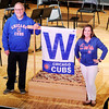 "Don Knight | The Herald Bulletin<br /> ASO Music Director and Conductor Richard Sowers and Executive Director Dana Stone are Cubs fans. The ASO will be replacing their intermission during Saturday's concert to a ""seventh inning stretch"" so baseball fans in the audience can get home to watch the World Series."