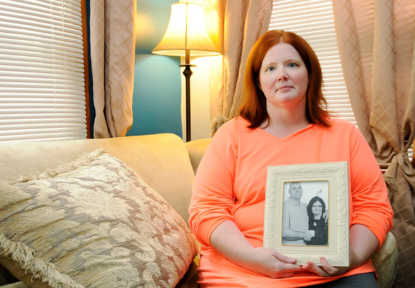 Don Knight | The Herald Bulletin<br /> Lyn Smock's husband Steven Schildtknecht was severely injured when a large branch hit his car during a storm on September 17th. Schildtknecht died 12 days later.