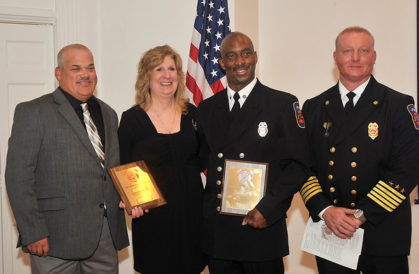 John P. Cleary | The Herald Bulletin<br /> Firefighter of the Year Award from the Anderson Noon Exchange Club.