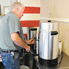 Don Knight | The Herald Bulletin<br /> Tim Montgomery makes a pot of coffee at Stepping Stones in Anderson.
