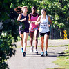 John P. Cleary | The Herald Bulletin<br /> With the warm temperatures and bright sun for a fall day these AU runners found the conditions perfect for their training run Monday along the Killbuck Wetlands trails.