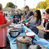 John P. Cleary |  The Herald Bulletin<br /> Folks lined up at the Hispanic Heritage Fiesta Saturday for some traditional Hispanic street food.