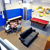 John P. Cleary |  The Herald Bulletin<br /> First day of activities for the new Girls & Boys Club at 2828 Madison Ave. One area in the new facility is a Teen Room where older kids can go and have a quieter time with their peers.