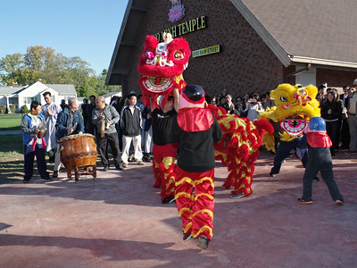Mark Maynard   For The Herald Bulletin Designed to expel evil and bring good fortune, the Lion Dance is performed at the Pho Minh Buddhist Temple during opening ceremonies.