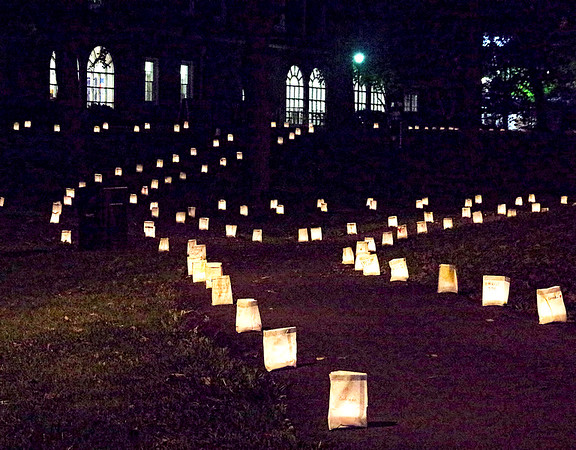 Mark Maynard | for The Herald Bulletin<br /> The Anderson University Valley was awash with the soft light of hundreds of luminaries on Friday night in celebration of Homecoming.