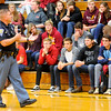 Don Knight | The Herald Bulletin<br /> State Trooper Eric Fields talks to Alexandria-Monroe students about digital citizenship and internet safety on Thursday.
