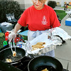 John P. Cleary |  The Herald Bulletin<br /> St. Mary's Church Hispanic Ministry member Nancy Floiesperez fries up taco shells to be filled by hungry visitors at the annual Hispanic Heritage Festival held Saturday.