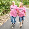 Don Knight | The Herald Bulletin<br /> From left, Jill Thomas and her mother Margery Frantz walk at Shadyside park on Wednesdsay. Frantz has stage 4 breast cancer and Thomas decided to get a hysterectomy and a double mastectomy after testing revealed she has the same gene mutation that caused her mother's cancer.