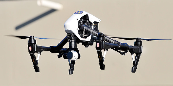 John P. Cleary    The Herald Bulletin<br /> This is Madison County Emergency Management Agency's UAV, or Unmanned Aircraft Vehicle, the agency has for use in investigations and searches.