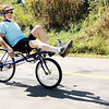Don Knight | The Herald Bulletin<br /> A cyclist starts out on a 25 mile ride during the Ride for the Mounds event on Saturday. The event raises awareness about the proposed Mounds Greenway and included rides of 45, 25 and 15 miles.