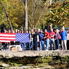 Don Knight | The Herald Bulletin<br /> Sailors fold an American Flag during a funeral service at Falls Park in Pendleton on Saturday.