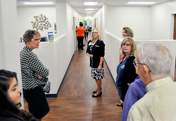 John P. Cleary |  The Herald Bulletin<br /> Attendees of the grand opening of The Jane Pauley Community Health Center in the Wigwam were given tours of their newest facility this past Wednesday.