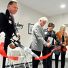 John P. Cleary |  The Herald Bulletin<br /> Jane Pauley Community Health Center CEO Marc Hackett, Anderson Mayor Thomas Broderick, Jr., Wigwam site manager Carol Ellington, and State Rep. Terri Austin cut the ribbon for the grand opening of The Jane Pauley Community Health Center located in the Wigwam.