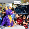 John P. Cleary |  The Herald Bulletin<br /> A large purple pinata donkey greeted people as they registered as they came in at the Hispanic Heritage Festival held at the Madison County Community Health Center Saturday.