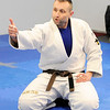 Don Knight | For The Herald Bulletin<br /> Brazilian Jui jitsu instructor Andrew Newkirk instructs his students during their class at the YMCA on Saturday.