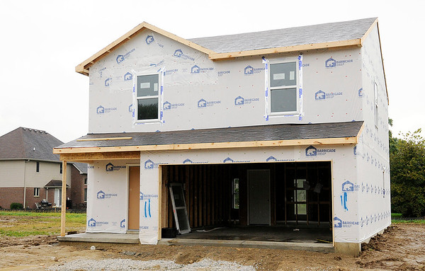 Don Knight | The Herald Bulletin<br /> This home is on lot 11 of 19 under construction off 10th Street just east of Rangeline Road.