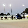 Don Knight | The Herald Bulletin<br /> The starting car pulls away from the horses at the start of a race at Hoosier Park on Tuesday.