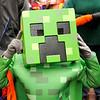 Don Knight | The Herald Bulletin<br /> Karter Bybee, 7, is dressed as a character from the video game Minecraft during the city's Trunk or Treat at Dickmann Town Center Park on Friday.